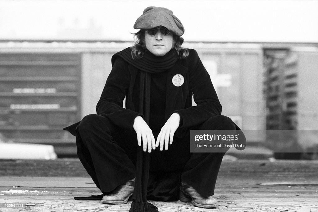 Musician John Lennon poses for a portrait on October 25, 1974 in New York City, New York.