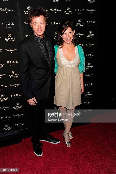 Musician John Mahon and his wife Pamela Mahon arrive at the grand opening of Fizz Las Vegas inside Caesars Palace celebrating Sir Elton John's...