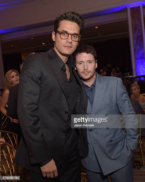 Musician John Mayer and actor Kevin Connolly attend the Cool Comedy Hot Cuisine To Benefit The Scleroderma Research Foundation benefit at the Beverly...