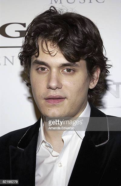 Musician John Mayer arrives at the Sony BMG Music Entertainment Grammy Party on February 13 2005 at the Hollywood Roosevelt Hotel in Hollywood...