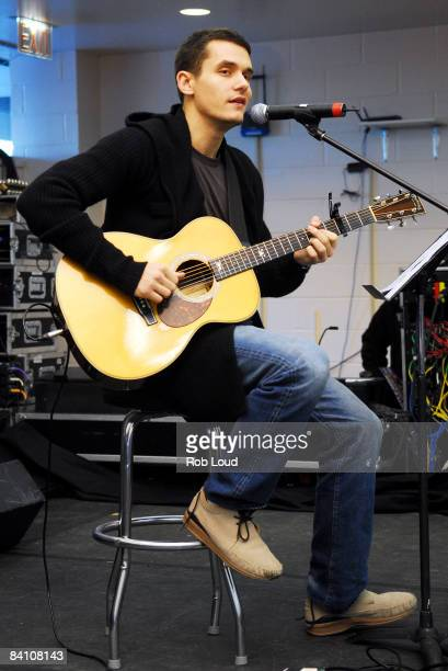 Musician John Mayer attends the 955 WPLJFM's 17th Annual Scott Todd live broadcast auction at Blythedale Children's Hospital on December 22 2008 in...