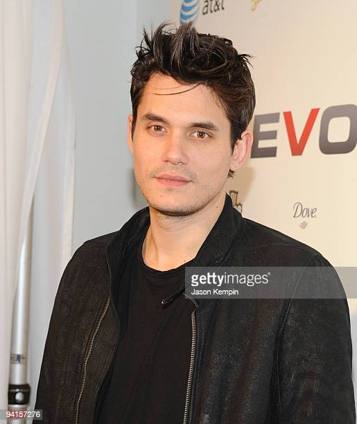 Musician John Mayer attends the launch of VEVO a musicvideo website at Skylight Studio on December 8 2009 in New York City