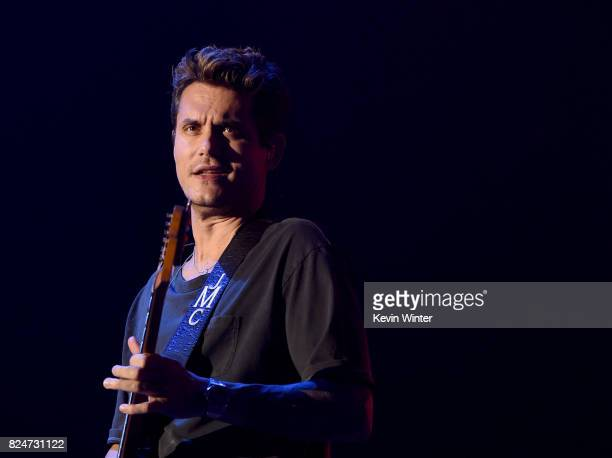 Musician John Mayer performs at the Forum on July 2017 in Inglewood California