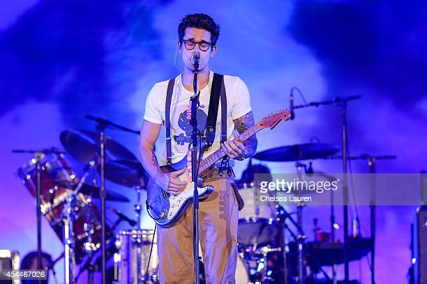 Musician John Mayer performs during day 2 of the Made in America Festival at Los Angeles Grand Park on August 31 2014 in Los Angeles California