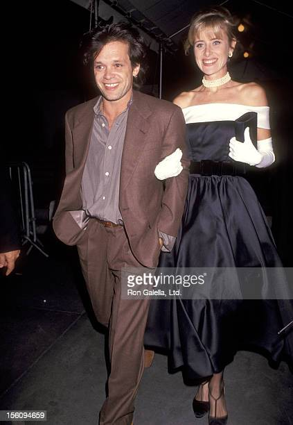 Musician John Mellencamp and guest attend the the Wedding Reception of Allen Grubman and Deborah Haimoff on October 12 1991 at New York Public...
