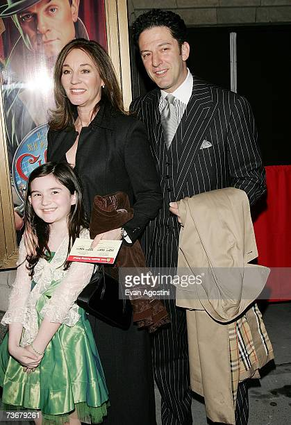 Musician John Pizzarelli and family arrive for the opening night of 'Curtains' on Broadway at the Hirschfeld Theatre March 22 2007 in New York City