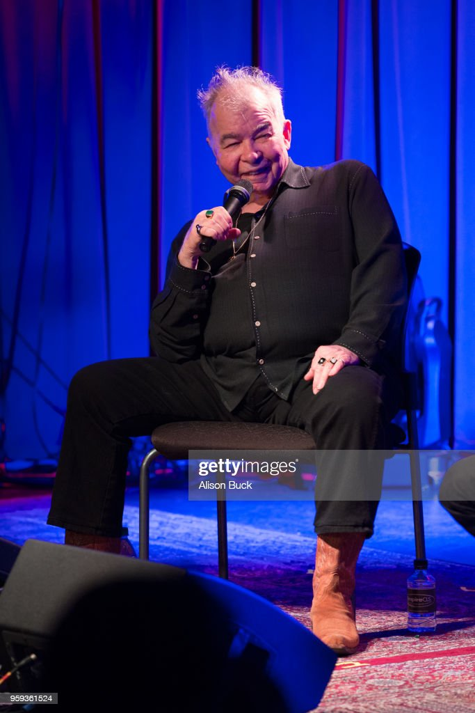 Musician John Prine speaks onstage during The Drop: John Prine at The GRAMMY Museum on May 16, 2018 in Los Angeles, California.
