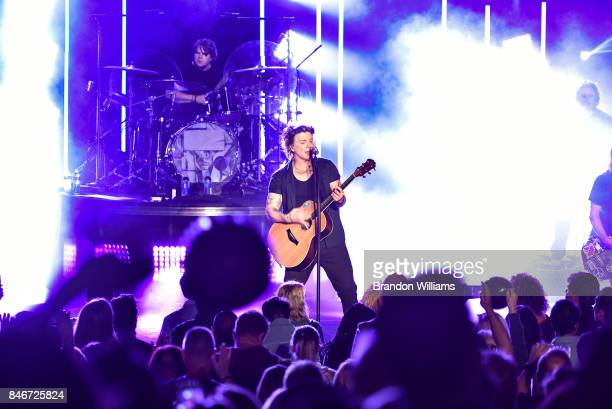 Musician John Rzeznik of the Goo Goo Dolls performs at The Greek Theatre on September 13 2017 in Los Angeles California