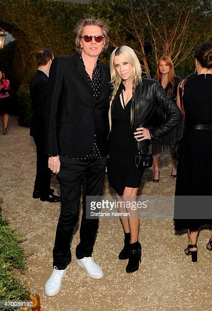 Musician John Taylor and Gela Nash attend the Burberry London in Los Angeles event at Griffith Observatory on April 16 2015 in Los Angeles California