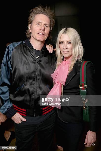 Musician John Taylor of Duran Duran and fashion designer Gela Nash attend Warner Music Groups' annual Grammy celebration at Milk Studios Los Angeles...