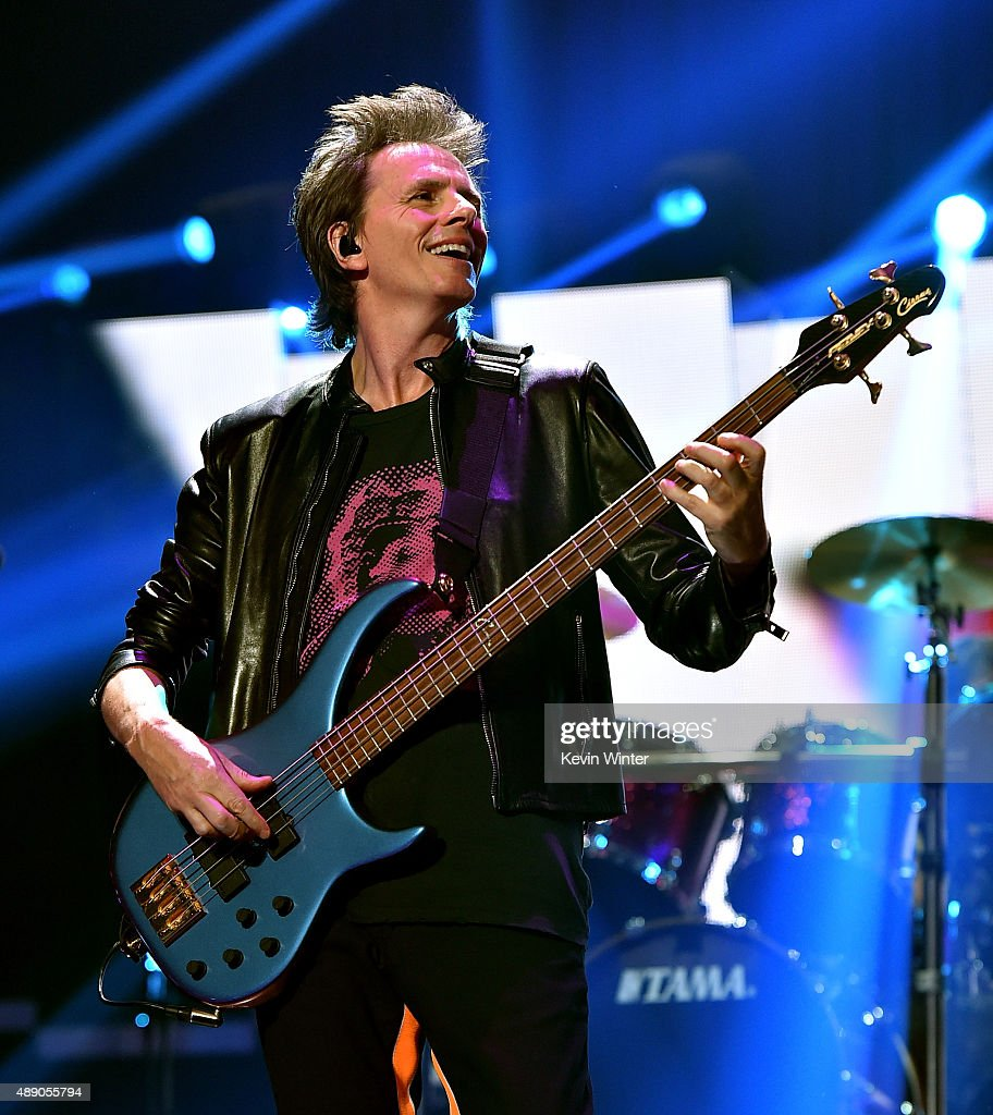 Musician John Taylor of Duran Duran performs onstage at the 2015 iHeartRadio Music Festival at MGM Grand Garden Arena on September 18, 2015 in Las Vegas, Nevada.
