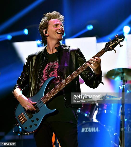 Musician John Taylor of Duran Duran performs onstage at the 2015 iHeartRadio Music Festival at MGM Grand Garden Arena on September 18, 2015 in Las...