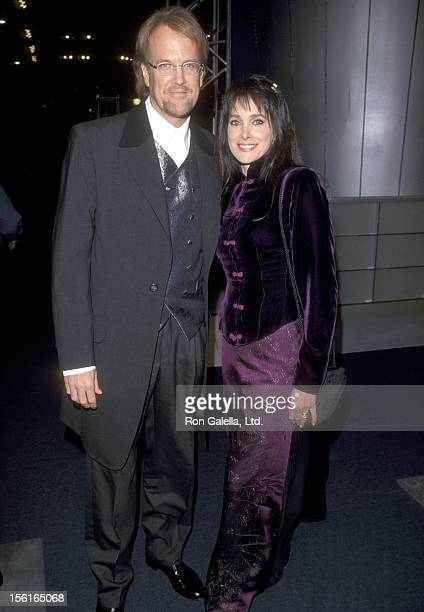 Musician John Tesh and Actress Connie Sellecca attend the 41st Annual Grammy Awards on February 24, 1999 at Shrine Auditorium in Los Angeles,...
