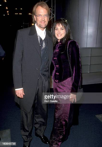 Musician John Tesh and Actress Connie Sellecca attend the 41st Annual Grammy Awards on February 24 1999 at Shrine Auditorium in Los Angeles California