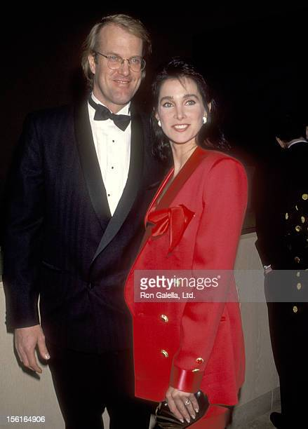 Musician John Tesh and Actress Connie Sellecca attend the American Friends of The Hebrew University's Scopus Award Honoring Aaron Spelling on January...