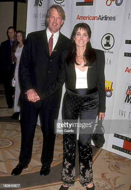 Musician John Tesh and Actress Connie Sellecca attend the Eighth Annual Race to Erase MS Gala on May 18 2001 at Century Plaza Hotel in Los Angeles...