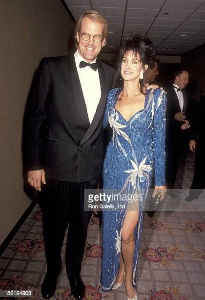 Musician John Tesh and Actress Connie Sellecca attend The National Conference of Christans and Jews Awards Gala on October 28, 1991 in Los Angeles,...