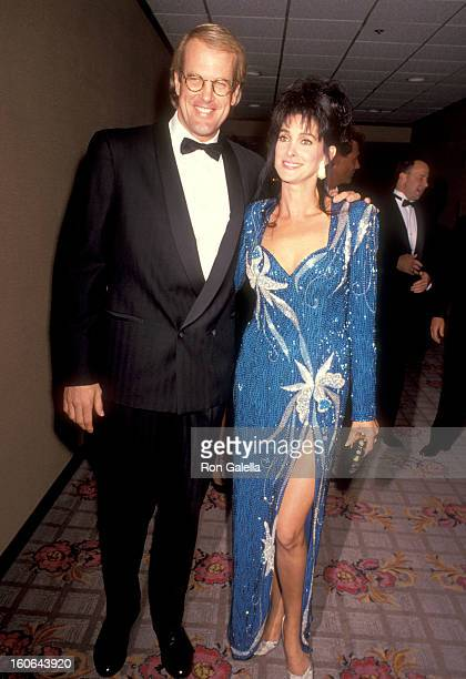 Musician John Tesh and Actress Connie Sellecca attend The National Conference of Christans and Jews Awards Gala on October 28 1991 in Los Angeles...