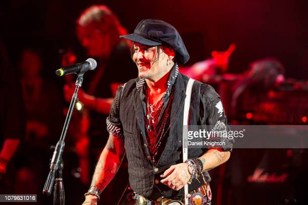 Musician Johnny Depp of Hollywood Vampires performs on stage at Celebrity Theatre on December 08 2018 in Phoenix Arizona