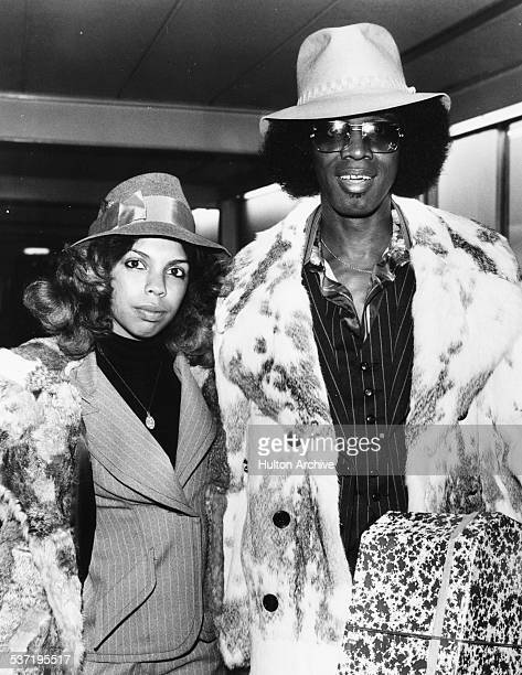 Musician Johnny 'Guitar' Watson and his girlfriend Tasha Erin circa 1976