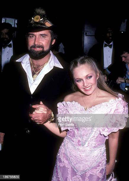 Musician Johnny Lee and Actress Charlene Tilton attend the Ninth Annual American Music Awards on January 25 1982 at Shrine Auditorium in Los Angeles...
