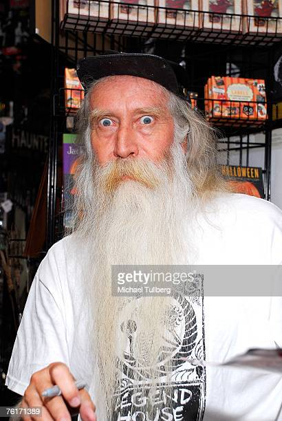 Musician Johnny Legend poses at an autograph party for the new graphic novel '2001 Maniacs' held at the Dark Delicacies bookstore on August 18 2007...