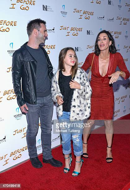 """Musician Johnny McDaid, Coco Arquette and director Courteney Cox attend a screening of Anchor Bay Entertainment's film """"Just Before I Go"""" at ArcLight..."""