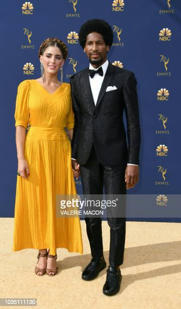 Musician Jon Baptiste arrives for the 70th Emmy Awards at the Microsoft Theatre in Los Angeles California on September 17 2018