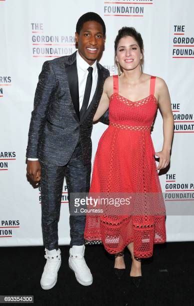 Musician Jon Batiste and Suleika Jaouad attend the 2017 Gordon Parks Foundation Awards Gala at Cipriani 42nd Street on June 6 2017 in New York City