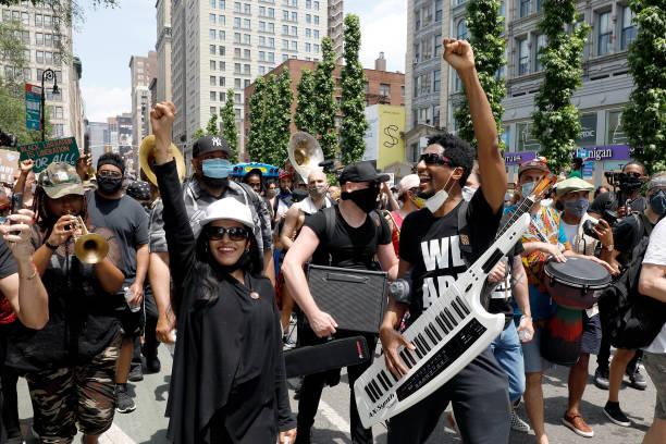 NY: Jon Batiste & Musicians Join Protest In Support Of Black Lives Matter