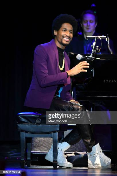 Musician Jon Batiste performs at the 10th Annual Little Kids Rock Benefit Concert Celebrating Lives Transformed Through Music Education at...