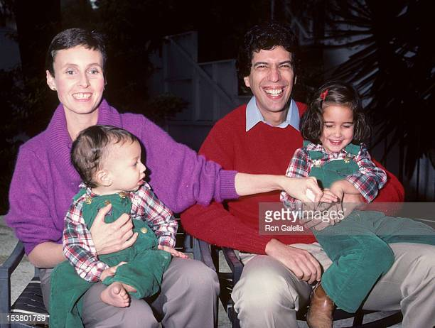 Musician Jon Bauman of Sha Na Na wife Mary Bauman daughter Nora Bauman and son Eli Bauman being photographed for exclusive photo session on December...