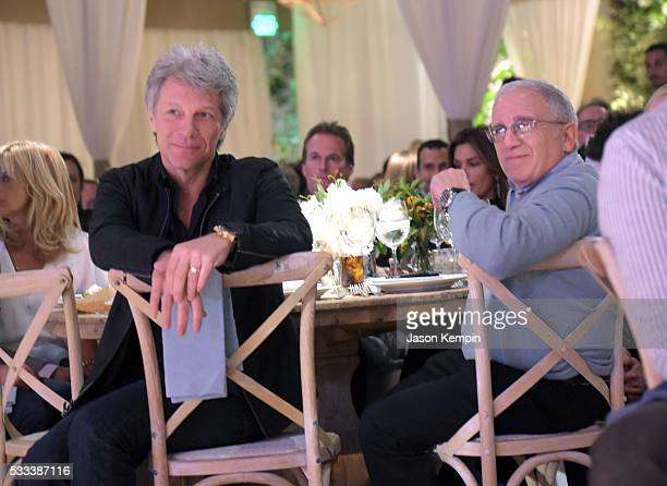 Musician Jon Bon Jovi and Chairman and CEO Azoff/MSG Entertainment Irving Azoff attend The Heart Foundation 20th Anniversary Event honoring Discovery...