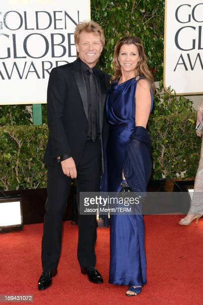 Musician Jon Bon Jovi and Dorothea Hurley arrive at the 70th Annual Golden Globe Awards held at The Beverly Hilton Hotel on January 13 2013 in...