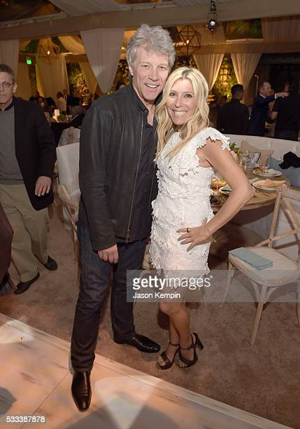 Musician Jon Bon Jovi and Rachel Zalis attend The Heart Foundation 20th Anniversary Event honoring Discovery Land Company's Mike Meldman at the Green...