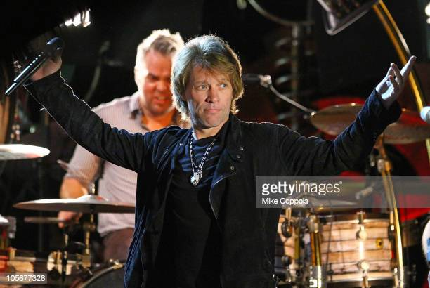 Musician Jon Bon Jovi performs at the Best Buy Theater on October 18, 2010 in New York City.