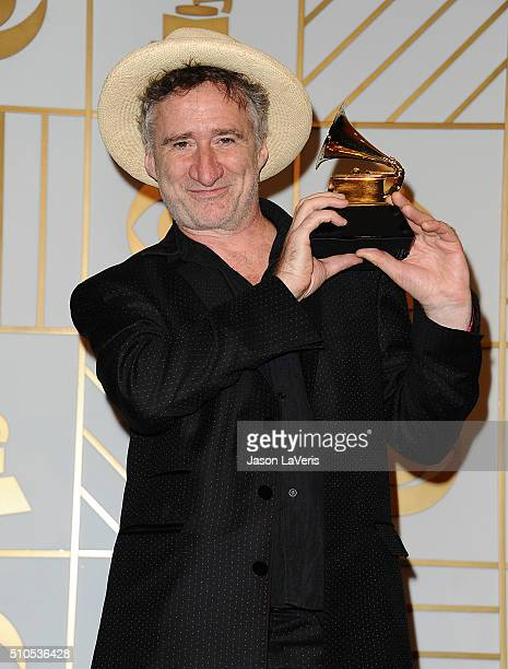 Musician Jon Cleary poses in the press room at the The 58th GRAMMY Awards at Staples Center on February 15 2016 in Los Angeles California