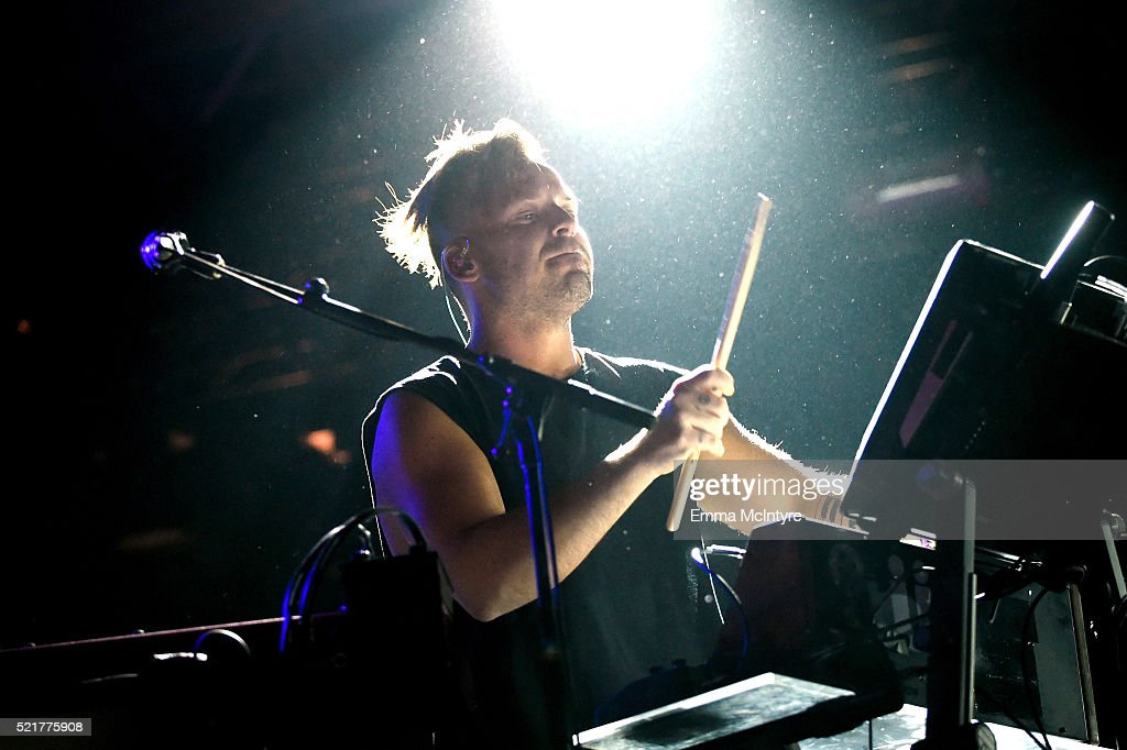Musician Jon George of Rufus DU SOL performs onstage during day 2 of the 2016 Coachella Valley Music & Arts Festival Weekend 1 at the Empire Polo Club on April 16, 2016 in Indio, California.
