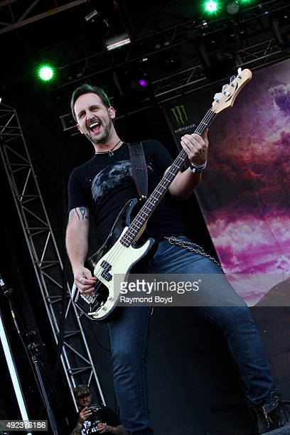 Musician Jon Lawhon from Black Stone Cherry performs during the 'Louder Than Life' festival at Champions Park on October 4 2015 in Louisville Kentucky