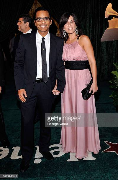 Musician Jon Secada and wife Maritere Vilar arrive at the 9th Annual Latin GRAMMY Awards held at the Toyota Center on November 13 2008 in Houston...