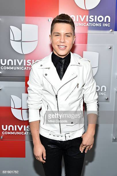 Musician Jonatan Sanchez attends Univision's 2016 Upfront Red Carpet at Gotham Hall on May 17 2016 in New York City