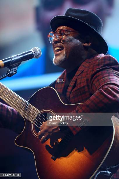 Musician Jonathan Butler performs at the 2019 Canadian Music and Broadcast Industry Awards during Canadian Music Week 2019 at Rebel Entertainment...