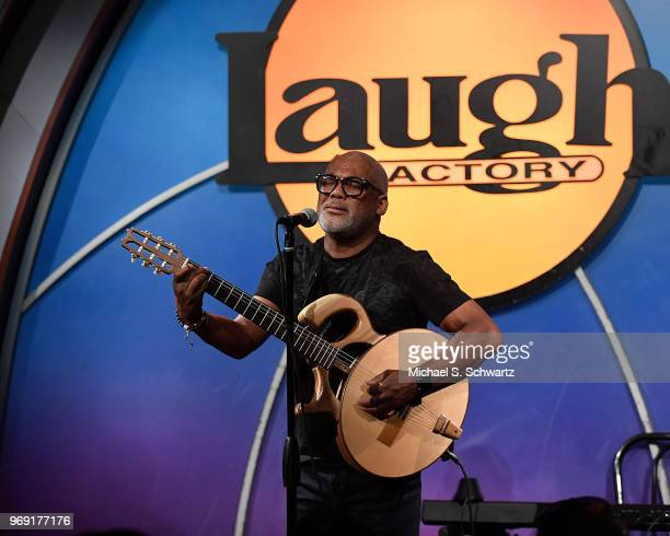 Musician Jonathan Butler performs at the SarcomaOma Foundation Comedy Benefit at The Laugh Factory on June 6 2018 in West Hollywood California