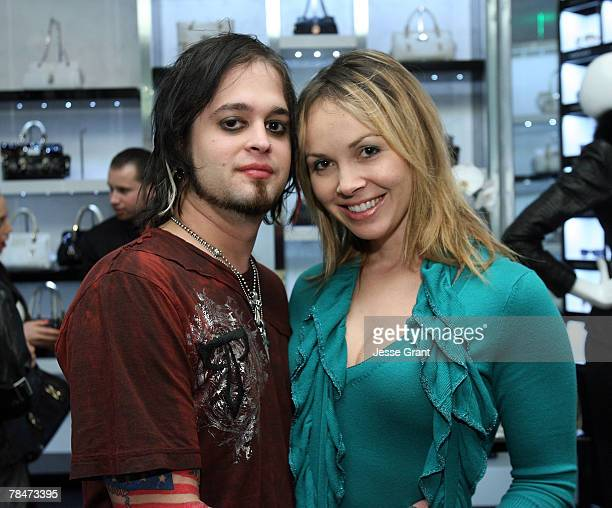 "Musician Jonathan Montoya and Christina Martin at the Versace Presents ""Chocolate and Champagne"" event on December 13, 2007 at Versace in Beverly..."