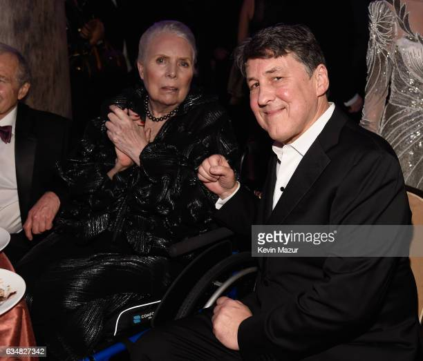 Musician Joni Mitchell and director Cameron Crowe attend PreGRAMMY Gala and Salute to Industry Icons Honoring Debra Lee at The Beverly Hilton on...