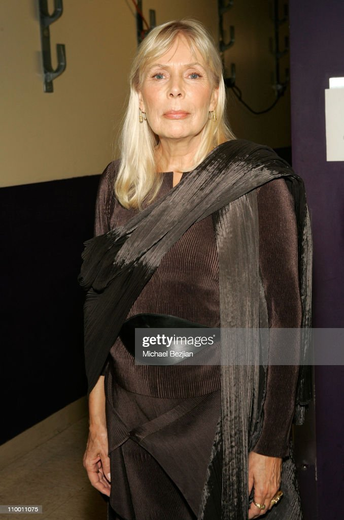 Musician Joni Mitchell backstage at The Thelonious Monk Institute of Jazz and The Recording Academy Los Angeles chapter honoring Herbie Hancock all star tribute concert at the Kodak Theatre on October 28, 2007 in Hollywood, California.**EXCLUSIVE**