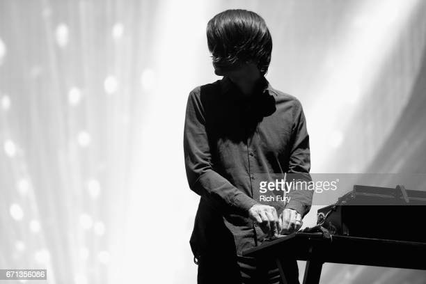 Musician Jonny Greenwood of Radiohead performs on the Coachella Stage during day 1 of the 2017 Coachella Valley Music Arts Festival at the Empire...