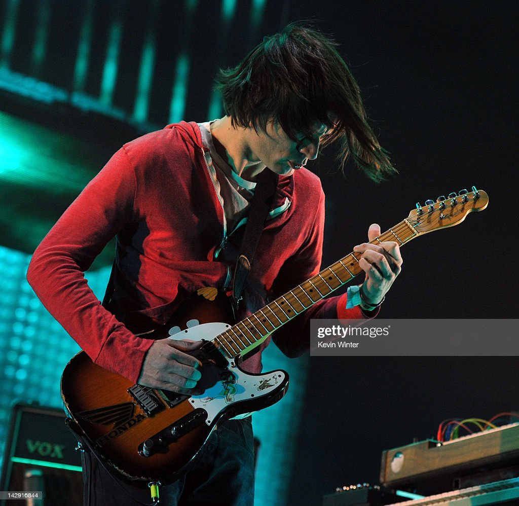 Musician Jonny Greenwood of Radiohead performs onstage during day 2 of the 2012 Coachella Valley Music & Arts Festival at the Empire Polo Field on April 14, 2012 in Indio, California.