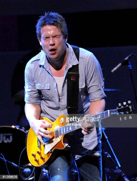 Musician Jonny Lang performs onstage during the Rock A Little Feed Alot benefit concert held at Club Nokia on September 29 2009 in Los Angeles...