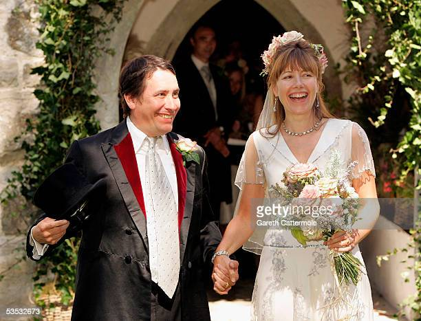 Musician Jools Holland and Christabel McEwen at St James's Church Cooling on August 30 2005 in Cooling England The Archbishop Of Canterbury Dr Rowan...